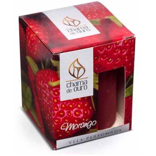 Vela Chama de Ouro perfumada morango 60g - Imagem em destaque