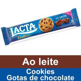 Biscoito LACTA Cookies Gotas de Chocolate ao Leite 80g