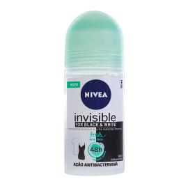 Desodorante Nivea Roll On Invisible Black&White Fresh Erva Doce 50ml