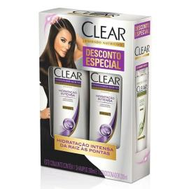 Shampoo 200ml + Condicionador 200ml Clear Hidratação Intensa