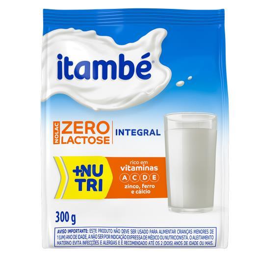 Leite em pó integral zero lactose Itambé sachê 300g - Imagem em destaque