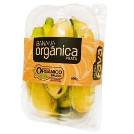 Banana Prata Fava Orgânica 600g