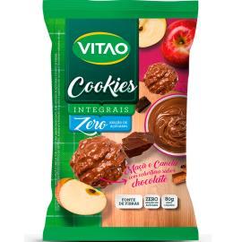Cookies Vitao Maçã & Canela com cobertura sabor Chocolate 80g