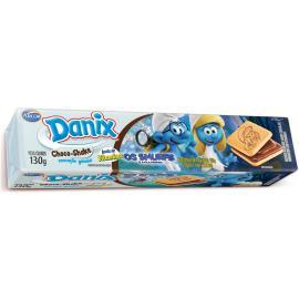 Biscoito Danix Recheado Chocolate Smurfs 130g