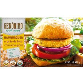 Hambúrguer de Grão de Bico com Alho-Poró Gerônimo 400g