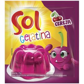 Pó para Gelatina Sol Cereja 25g