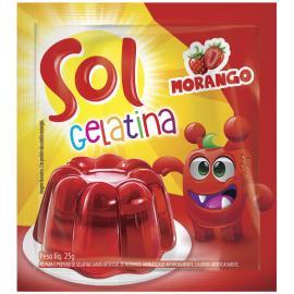 Gelatina morango Sol 25g