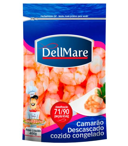Camarão Dellmare Descascado Cozido Congelado 400g - Imagem em destaque