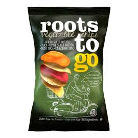 Chips mandioca e batata doce orig. Vegetables Chips Roots To Go pacote 45g