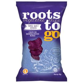 Chips de batatas-doces roxas Roots Vegetable chips to Go 45g