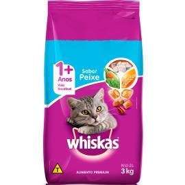 Ração para gatos Whiskas sabor peixe 3kg