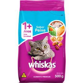 Alimento para gatos Whiskas sabor peixe 500g