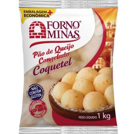 Pão de Queijo congelado coquetel Forno de Minas 1kg
