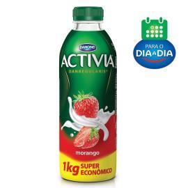 Iogurte Activia Morango Líquido Super Econômico 1kg