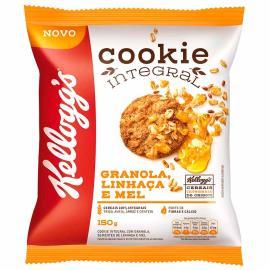 Cookie Integral granola, linhaça e mel Kellogg's Pacote 150g