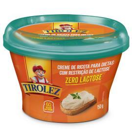 Creme de ricota tirolez zero lactose 150g