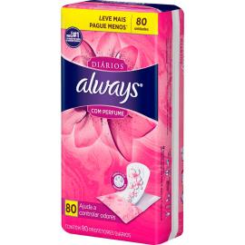 Protetor diário leve mais pague menos com perfume Always 80uns