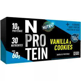 Barra Proteína vanilla e cookie N Nutry 60g