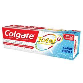 Creme dental total 12 saúde visível Colgate 70g