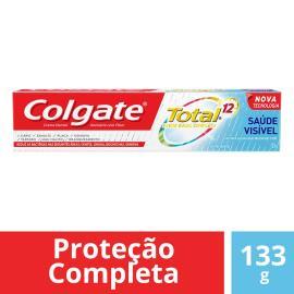 Creme dental total 12 saúde visível Colgate 133g