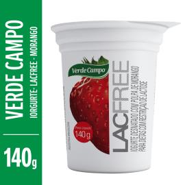 Iogurte morango Lacfree Verde Campo 140g
