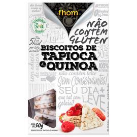 Biscoito Sem glúten Tapioca com quinoa Fhom Caixa 50g