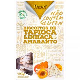 Biscoito Tapioca linhaca e amaranto zero fhom 50g