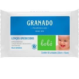 Lenços Umedecidos pele sensível Granado 50un
