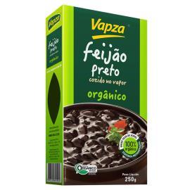 Feijão preto vácuo cozido organico Vapza 250g