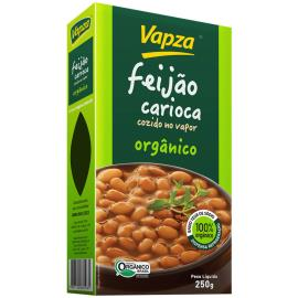Feijão carioca vácuo cozido organico Vapza 250g