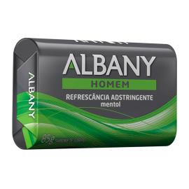 Sabonete Albany Homem Refrescância Adstringente Mentol 85g