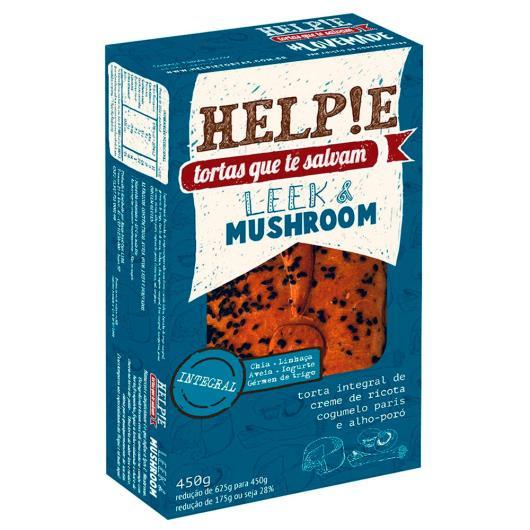 Torta congelado leek mushroom integral Helpie 450g - Imagem em destaque