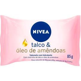 Sabonete hidratante talco e óleo de amêndoas Nivea 85g