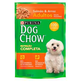 Alimento Cães adulto salmão Dog Chow sache 100g