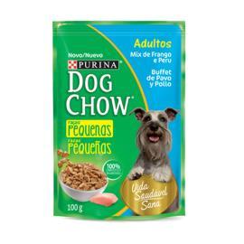 Alimento Cães adulto frango peru Dog Chow sache 100g