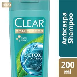 Shampoo Clear Anticaspa Detox Diário 200ml