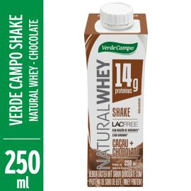 Shake Verde Campo Lacfree Whey Chocolate 250ml