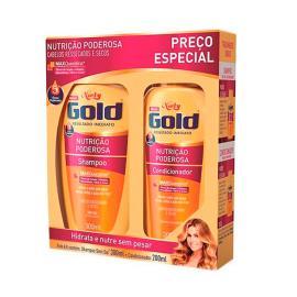 Shampoo 300ml + Condicionador 200ml nutrição poderosa Niely Gold unidade