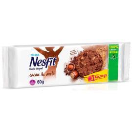 Biscoito integral cookie cacau e avelã Nesfit 60g