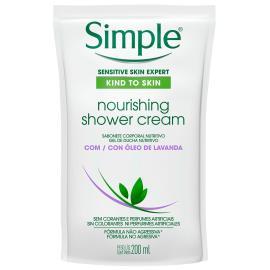 Sabonete líquido corporal creme nour refil Simple 200ml