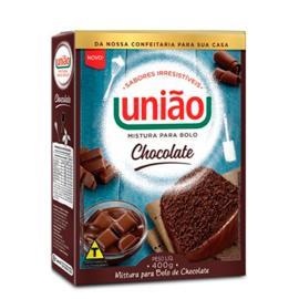 Mistura de bolo chocolate União 400g