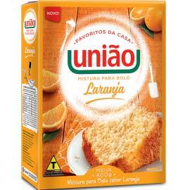 Mistura de bolo laranja União 400g
