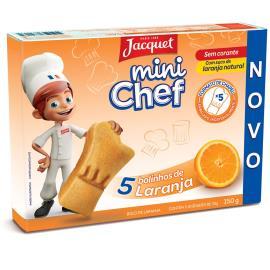 Bolo de Laranja Mini Chef Jacquet 150g com 5 Unidades