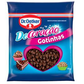 Confeito gotinhas chocolate Decoração Dr.Oetker pacote 80g