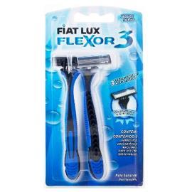 Aparelho de barbear flex 3 lâminas Fiat Lux 2uns.