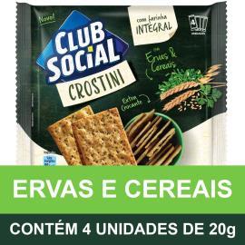 Biscoito CLUB SOCIAL Crostini Ervas e Cereais (4 Unidades) 80g