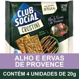 Biscoito CLUB SOCIAL Crostini Alho e Ervas de Provence  (4 Unidades) 80g