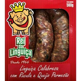 Linguiça Rei da Linguiça Calabresa c/ Rúcula e Queijo 500g