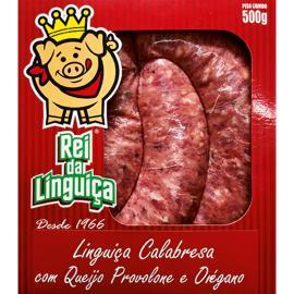 Linguiça Rei da Linguiça Calabresa c/ Queijo e Orégano 500g