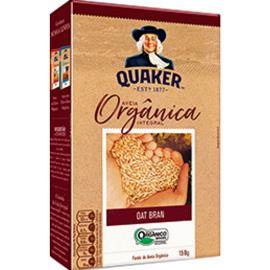 Aveia orgânica integral Oat Bran Quaker 150g